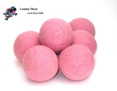 Pretty pink Leaping Sheep dryer balls
