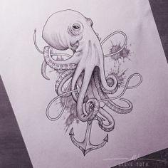 Octopus sketch, tattoo idea