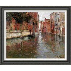 Global Gallery 'A Venetian Backwater' by Frits Thaulow Framed Painting Print Size: