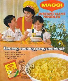 80s Ads, Retro Ads, Vintage Comics, Vintage Ads, Maggi Soup, Philippines Culture, Popular People, Pinoy Food, Kraken