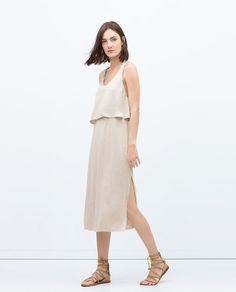 ZARA - COLLECTION AW15 - LONG DOUBLE LAYER DRESS