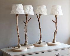 Blue heaven: Driftwood table lamps