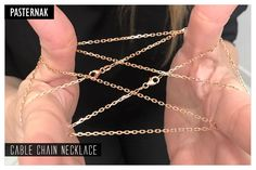 18K Rose Gold Cable Chain Necklace 45cm / 3.1X2 mm buy it in our web site: http://www.pasternakfindings.com/