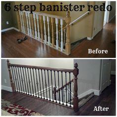 Bits Of Everything: 6 Step Banister Redo #home #redo #banister