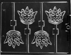CROWN LOLLIPOP CHOCOLATE CANDY MOLD MOLDS BIRTHDAY PARTY FAVORS  #EASTCOAST