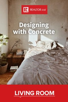 This timeless building material is starting to look ultra-trendy in our homes if used correctly. Find out how to design with concrete on REALTOR.ca Living Room.  #REALTORdotca #homedesign #interiordesign #homedecor #homerenovations #concrete #designwithconcrete #concretehome