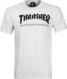 Thrasher Boys Skate Mag Logo Youth T-Shirt - White - Skater 🛹 Skate Thrasher, T Shirt Thrasher, White Outfit For Men, Skater Girl Outfits, Skater Girls, Skater Style, Street Outfit, Boys T Shirts