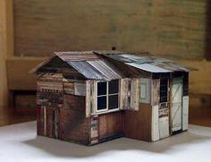 antonia dewhurst – ty unnos model – 2012 – digital images, card, adhesive & mixed media – 14cm x 10cm x 10cm