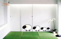 Cute Sheep Family Wall Decal