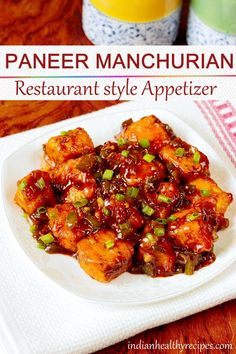 paneer manchurian is a Indo chinese appetizer made of fried paneer. paneer manchurian is a Indo chinese appetizer made of fried paneer. This restaurant paneer appetizer is quick to make & can also be served with noodles or fried rice. Healthy Chinese Recipes, Indo Chinese Recipes, Tasty Vegetarian Recipes, Veg Recipes, Curry Recipes, Asian Recipes, Mexican Food Recipes, Cooking Recipes, Healthy Recipes