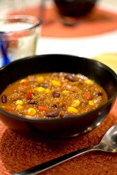 Vegetarisk tacosoppa med quinoa