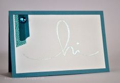 Silver heat embossing using stencil made with Silhouette. Marlene Bonetti