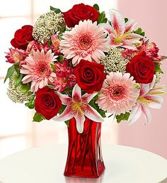 Whatever they're wanting, hoping, dreaming… each of the hand-selected flowers in this truly original arrangement -- roses, Gerberas, lilies, alstroemeria and rice flowers combines to fulfill their wish to have fresh flowers delivered to the door.