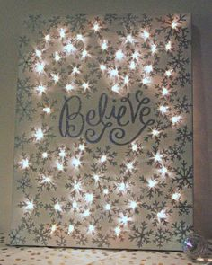 Christmas DIY: how to make a lighte how to make a lighted christmas canvas christmas decorations crafts fireplaces mantels seasonal holiday decor Christmas Canvas, Noel Christmas, Winter Christmas, Christmas Lights, Christmas Greetings, Handmade Christmas, Holiday Canvas, Lighted Christmas Pictures, Christmas Wreaths