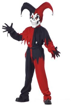 Red & Black Evil Jester Kids Costumes for an adorable look that will be a huge hit this Halloween! The Batman Joker Costume is guaranteed to make this Halloween one to remember! Wicked Costumes, Boy Costumes, Halloween Costumes For Kids, Scary Halloween, Halloween Couples, Halloween Recipe, Women Halloween, Halloween Projects, Halloween Makeup