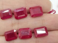5 Pcs Ruby Chatham Red Chatham Ruby Chatham by gemsforjewels