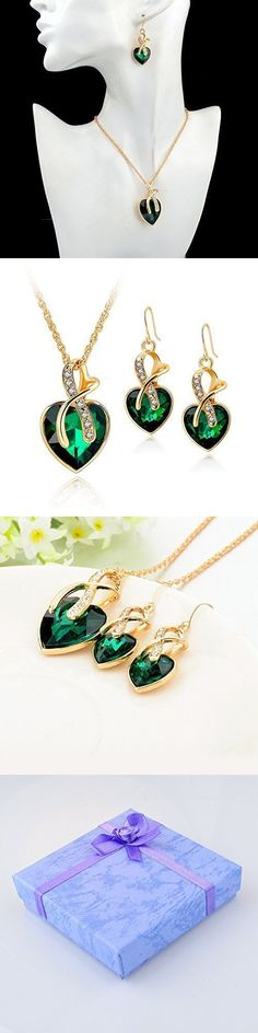 Jewelry Sets 50692: Mothers Day Gift Modern Fashion Heart Jewelry Sets Necklace Earrings Gold Plated -> BUY IT NOW ONLY: $39.72 on eBay!