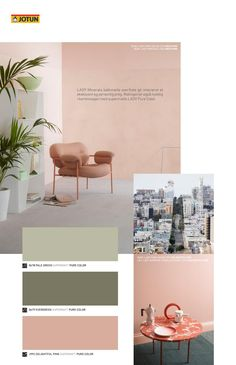 from Jotun LADY - Det nye vakre fargekartet 2017 Bedroom Green, Bedroom Colors, Wall Colors, House Colors, Colours, Color Inspiration, Interior Inspiration, Palette Deco, Room Color Schemes