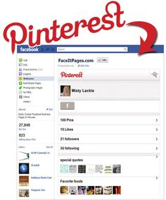 Face It Pages now support Pinterest - If you have a relevant page, this is a great tool for you.