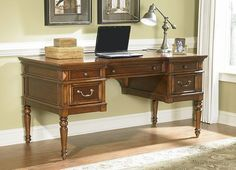 My New Office Desk, Collins Leg Desk From Havertys