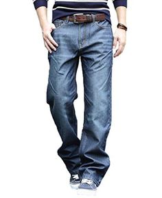 Men's Relaxed Fit Straight Leg Jeans Big Size Tall Jeans, Big & Tall, Legs, Fitness, Clothing, Pants, Jewelry, Fashion, Tall Clothing