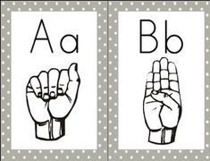 Free! Sign Language Alphabet and Number Wall Cards