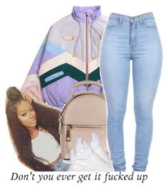 A fashion look from April 2017 featuring padded jacket, puma shoes and single strap backpack. Browse and shop related looks. Dope Swag Outfits, Classy Outfits, Chic Outfits, Girl Outfits, Fashion Outfits, Unique Outfits, School Outfits, Fashion Ideas, Black Girl Fashion