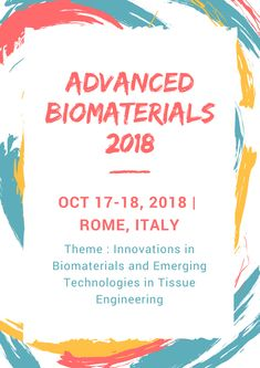 """PULSUS brings in a new spin on conferences by presenting the latest scientific improvements in your field. Listen to motivating keynotes from thought leaders, or rub elbows with pioneers across the globe. Rome all set for an amazing event as PULSUS proudly presents the """"World Congress on Advanced Biomaterials and Tissue Engineering slated on October 17-18, 2018 at Rome, Italy""""."""