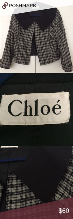 Vintage Chloe Cropped Blazer Fits like an 8. Excellent used condition. Chloe Jackets & Coats Blazers