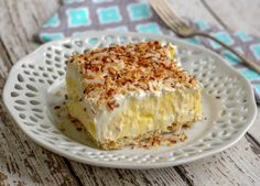 Coconut Cream Pie Deluxe Recipe on Yummly. Just Desserts, Delicious Desserts, Awesome Desserts, Easter Desserts, Lemon Desserts, Health Desserts, Cake Recipes, Dessert Recipes, Dessert Ideas
