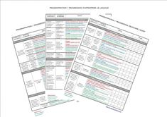Programmations / Progressions maternelle