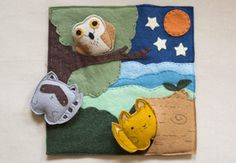 how cute is this?  woodland animal felt craft