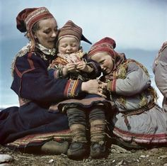 A Sami family in Norway, 1951, by Robert Capa (!)