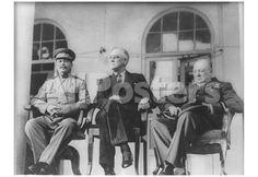 Leaders of World War 2 (Winston Churchill, Franklin Delano Roosevelt, Joseph Stalin) Art Poster Pri People Poster - 48 x 33 cm