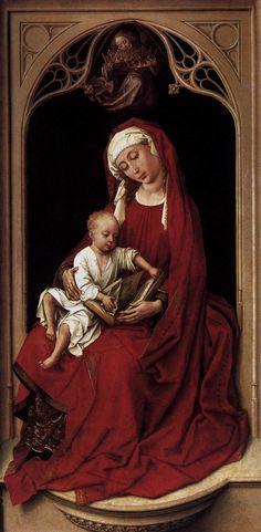 Madonna in red, Duran-Madonna, ca. 1440, Oil on panel, 100 x 52 cm, Museo del Prado, Madrid