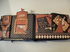 annes papercreations: Graphic 45 Olde Curiosity Shoppe mini album - tutorial