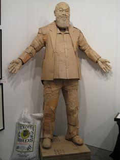 Image detail for -Art Frame: PAPER 12 - Ai Weiwei Cardboard Sculpture Cardboard Sculpture, Paper Mache Sculpture, Cardboard Paper, Cardboard Furniture, Cardboard Crafts, Abstract Sculpture, Sculpture Art, Human Sculpture, Cardboard Playhouse