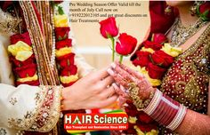 Wedding Season is the time everyone want to look their best not only the bride and groom everyone.Call now on 9222012105 to schedule a free appointment and get amazing deals on Hair Treatments.  ‪#‎HairTransplantInMumbai‬,‪#‎RoboticHairTransplant‬,‪#‎HairTransplantForWomen‬ ,‪#‎HairTransplantForMen‬ ,‪#‎BestHairTransplantInMumbai‬,‪#‎CostforhairTransplantinMumbai‬,‪#‎CostforHairTransplantinIndia‬,‪#‎HairLossTreatmentinIndia‬,‪#‎BestClinicForHairTransplant‬,‪#‎HairTransplantationClinics‬