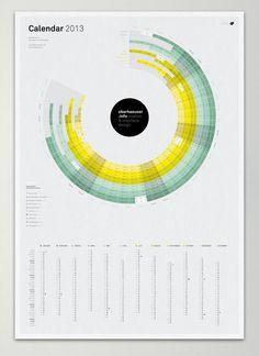 oberhaeuser.info calendar 2013 by Martin Oberhäuser, via #Behance #Infographic #Design