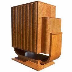 Art Deco U Base maple Cabinet