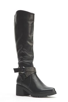Womens Ladies Black Faux Leather Block Heel Knee High Boots Size 4,5,6,7,8 New  Click On Link To Visit My Ebay Shop http://stores.ebay.co.uk/all-about-feet  Useful Info:  - Standard Size - Standard Fit - By Ideal  - Black In Colour - Heel Height: 2 Inches - Inner Side Zip Fastening - Studded And Buckle - Synthetic Leather Upper - Textile Lining  #boots #black #kneehighboots #kneeboots #blackboots #blockheel #midheel #buckle #zip #studded #fauxleather #fashion #footwear #forsale #womens…