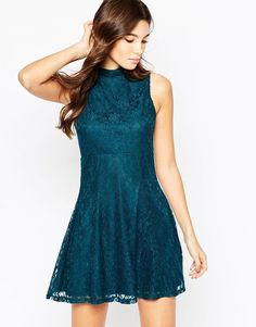 ASOS COLLECTION ASOS Sleeveless Lace Skater Dress