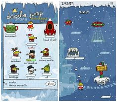 Doodle Jump Christmas edition app for kids