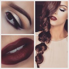 """BELLAMI Dark Brown 22"""" set and a dark lippie! Can it get any better? Shop www.bellamihair.com to score your best hair beauty secret! Use code 'ilovebellami' for $5 off!"""