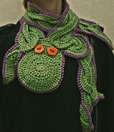 Curious Octopus Scarf  Crochet Green by BrodrickMade on Etsy, $40.00