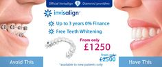 Invisalign Special Offer : Invisalign from only £1250 our lowest price ever. Free Consultation, Free teeth whitening and up to 3 years 0% dental finance. *Available only to new patients.