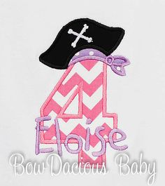 Personalized Birthday Pirate Number Monogrammed by bowdaciousbaby