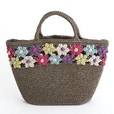 crochet bag – Knitting and crocheting Diy Crochet Bag, Crochet Clutch, Crochet Handbags, Crochet Purses, Love Crochet, Knit Crochet, Handmade Handbags, Handmade Bags, Flower Bag