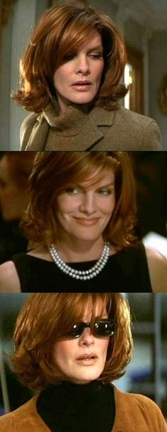 Rene Russo, The Thomas Crown Affair.  I will do this with my hair in a few years.  Love her big red hair in the film.  Not sure if I'll go this red, but love the cut and shape of her hair!