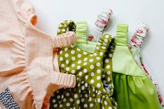 Easy baby dress pattern for the summertime from see kate sew. I'm pinning this for the fantastic elastic straps (didn't plan that rhyme, but, hey!).